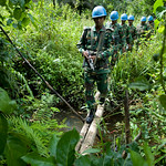 UNMIL Photo/Christopher Herwig,  October 6, 2008, Gbanga, Liberia - A joint operation with UNPOL, Liberian National Police, Nigerian Formed Police Unit, and Bangladeshi  peacekeepers to find ...