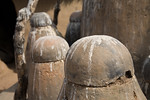 TAMBERNA VALLEY, TOGO - DECEMBER, 2006: Posts used in local rituals. Located in the North of Togo, the Tamberma Valley is famous for it castle like mud houses called Tata. (Photo by: Christo ...