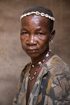 TAMBERNA VALLEY, TOGO - DECEMBER, 2006: Portrait of a woman. Located in the North of Togo, the Tamberma Valley is famous for it castle like mud houses called Tata. (Photo by: Christopher Her ...