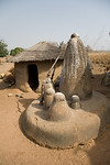 TAMBERNA VALLEY, TOGO - DECEMBER, 2006: Posts used in local rituals.  Located in the North of Togo, the Tamberma Valley is famous for it castle like mud houses called Tata. (Photo by: Christ ...