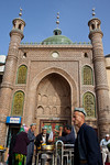 Hotan, Xinjiang, China - September 29, 2009: Mosque in downtown Hotan. (Photo by: Christopher Herwig)