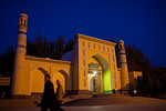Id Kah mosques at night, Kashgar, Xinjiang, China.