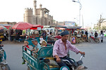 Street life in Yarkand, Xinjiang, China.