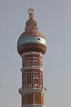 Hotan, Xinjiang, China - September 29, 2009: Minaret in downtown Hotan. (Photo by: Christopher Herwig)