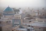 Yazd, Iran - February, 2008: Rooftop view over the desert city of Yazd, famous for its many wind towers which act as a natural air conditioner. (Photo by Christopher Herwig)