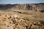 Kharanaq, Iran - February, 2008: The historical ancient city of Kharanaq lies in a dramatic valley where rugged mountains, desert and farming all come together.  (Photo by Christopher Herwig ...